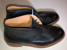 COLE HAAN black leather high top mens lace up dress shoes boots sz 7 - $42.08