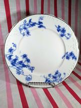 Vintage Wedgwood England Royal Blue Semi Porcelain CARNOT Gold Rim Dinner Plate - $14.00