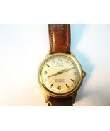 VINTAGE 17 JEWEL LOUIS GREAT DIAL WINDUP WATCH RUNS - $95.00
