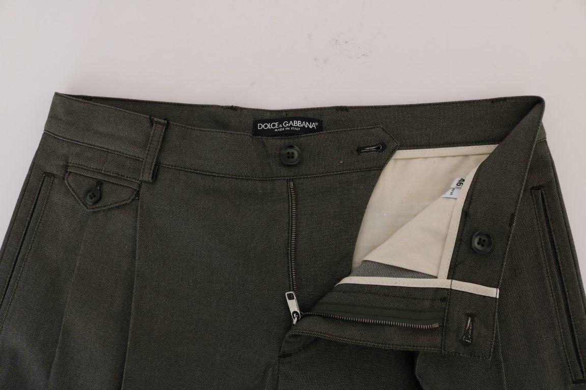 New $390 Dolce & Gabbana Men Gray Cotton Crown Shorts It54-Xl
