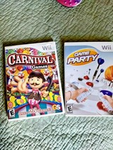 Lot of 2 Nintendo Wii Games Game Party for Nintendo Wii 2007 and Carnival Game - $18.80