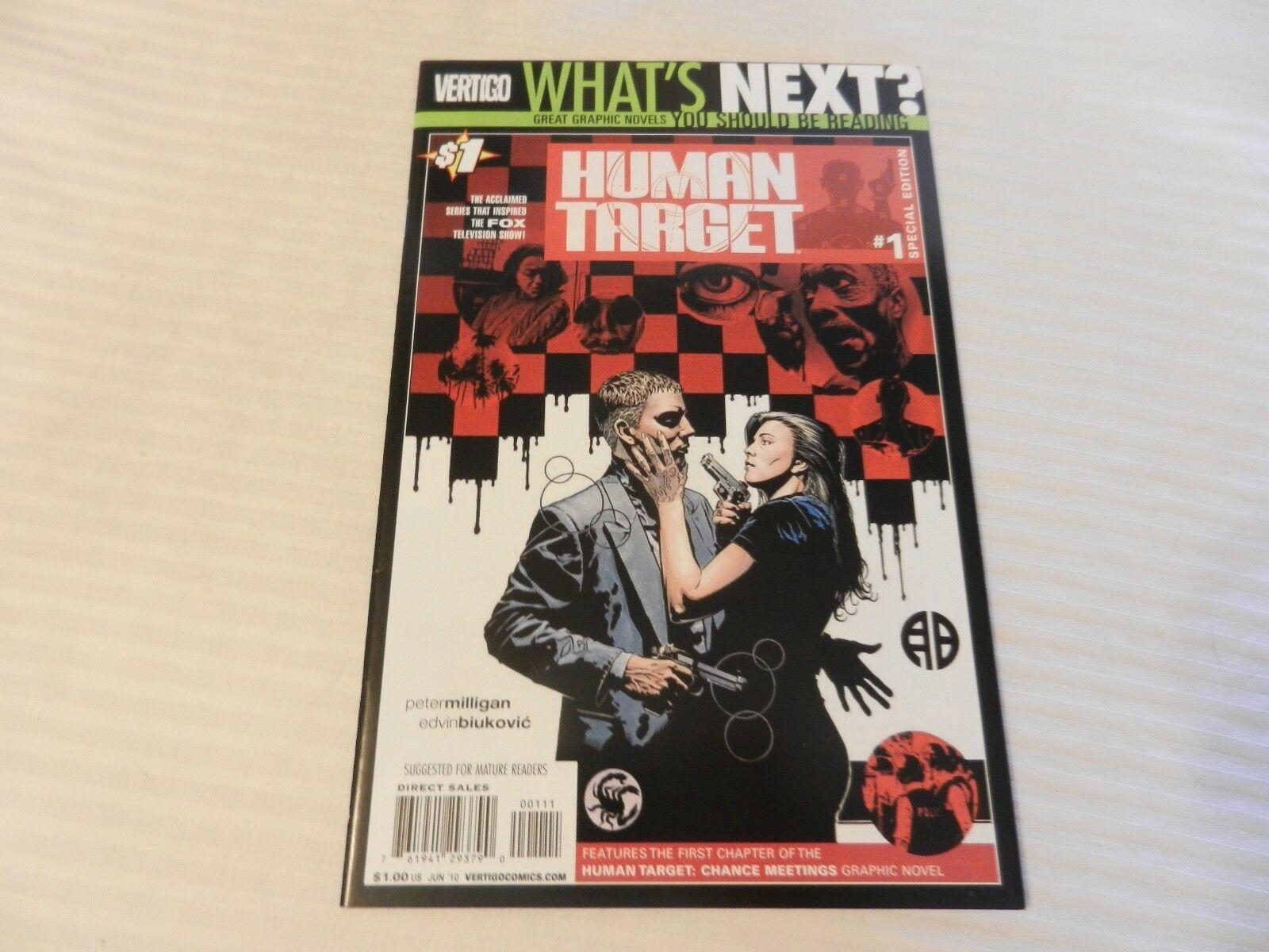 Human Target #1 June 2010 Special Edition Vertigo Comics