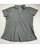 OGIO Womens Polo Shirt Size Small Gray Athletic Golf Top V-Neck NEW - $21.78