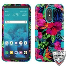 Electric Hibiscus/Tropical Teal TUFF Hybrid Cover for LG Stylo 4 Plus/St... - $14.56