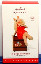 Disney Muppets Miss Piggy 2015 Hallmark Keepsake Ornament It Is Moi Sound - $19.75