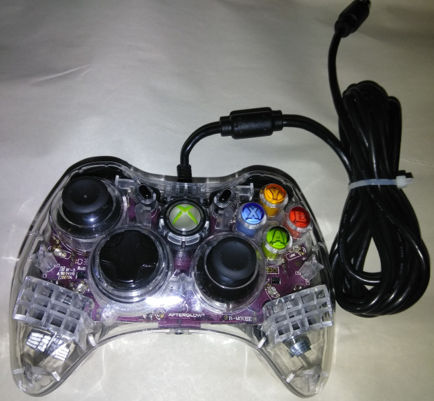Xbox 360 Wired Controller PL-3602 AX.1 for XBOX 360 Afterglow Like New Mint