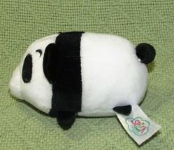 "Spark Create Imagine Panda Mini 4"" Plush Rattle Stuffed Animal Baby Toy Black - $9.80"
