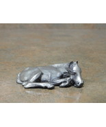 PEWTER Horse Figurine Sleeping Colt P103 - $21.99