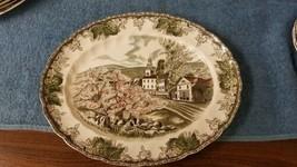 "Johnson Brothers Friendly Village 11.5"" Oval Platter 'The Village Green'... - $14.63"