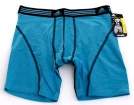 Adidas ClimaLite Sport Performance Blue Boxer Brief Underwear Men's NWT - $18.74