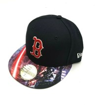New Era Boston Red Sox 59Fifty Dark Vader Viza Print Fitted Hat Navy Siz... - $34.65