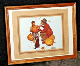 """Picture of """"Pumpkin Carving """" by Norman Rockwell  AA20-2355 Vintage Collec"""
