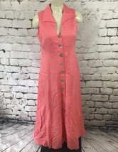 Coldwater Creek Womens Sz 8 Dress Pink Sleeveless Fit And Flare Shirt Dr... - $29.69
