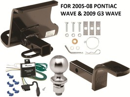 COMPLETE TRAILER HITCH PKG W/ WIRING KIT FOR 2005-08 PONTIAC WAVE & 2009... - $184.95