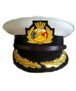 P&O MARINE SHIP LINE CAPTAIN WHITE HAT CAP NEW MOST SIZES EXCELLENT CP MADE - $95.00
