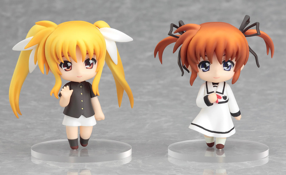 Nendoroid Petit: Lyrical Nanoha - Nanoha & Fate Final Scence ver Mini Figure NEW