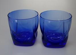 Set of 2 Libbey Cobalt Blue Glass 12 oz Rock Tumblers EUC - $14.99