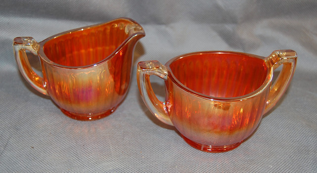 Primary image for Imperial Luster & Clear Carnival Glass Breakfast Set