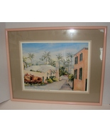 "St. George Bermuda Signed Litho, Framed ""Featherbead Alley"" by  C. Holding - $85.00"