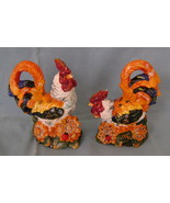 Colorful Rooster, Ceramic, Salt & Pepper Shaker Set - $12.00