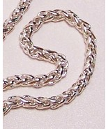 Sterling Silver Wheat Chain 18 IN 4.5mm .925  - $225.00