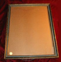 "Nice Vintage Gold Green Wooden Picture Frame 12""x15"" - $10.00"