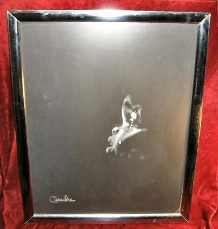 Framed Signed Black & White Print Baby Crying Casandra