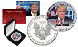 DONALD TRUMP Official President PORTRAIT 2017 1 oz. .999 U.S SILVER EAGL... - $49.45