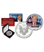 DONALD TRUMP Official President PORTRAIT 1 oz. .999 U.S SILVER EAGLE wit... - £53.68 GBP