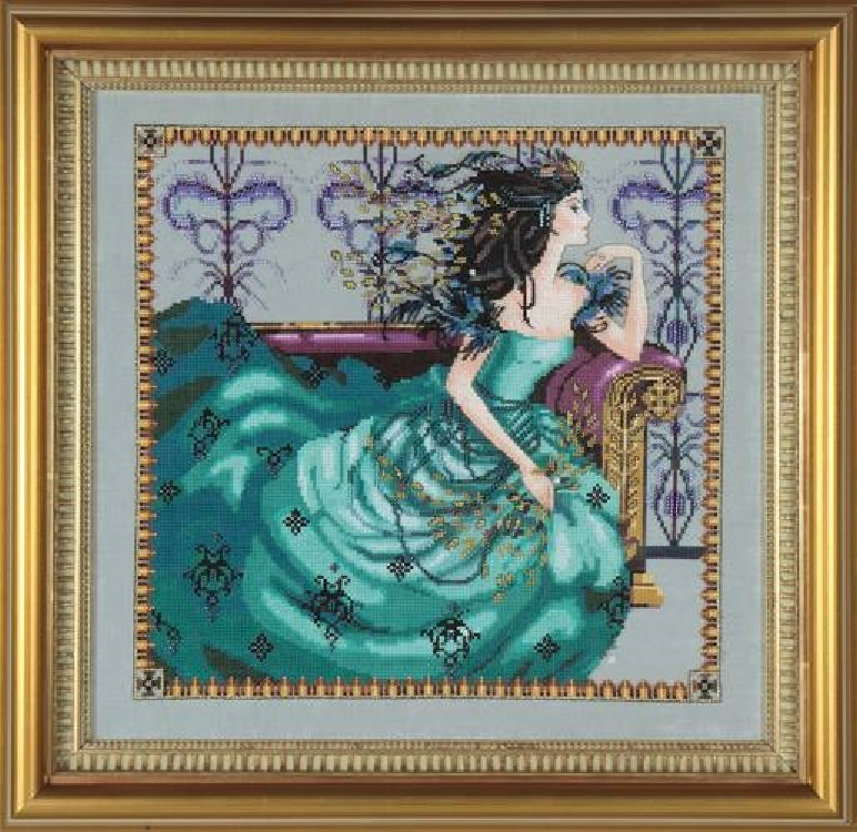"""SALE COMPLETE XSTITCH KIT /""""CRYSTAL SYMPHONY/"""" by Mirabilia"""