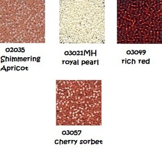 BEAD PACK Red Velvet Cake cross stitch Glendon Place Dinky Dyes  - $13.00