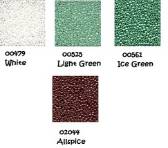 BEAD PACK Fudgey Mint Mousse cross stitch Glendon Place Dinky Dyes  - $7.80