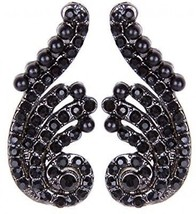 Vijiv Gatsby Earrings Pearl Wings Vintage 1920s Flapper Accessories Party - $49.30 CAD
