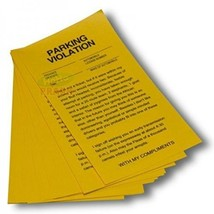 Parking Violation Yellow Revenge Fake Parking Tickets(25 tickets)- Gag P... - $6.09