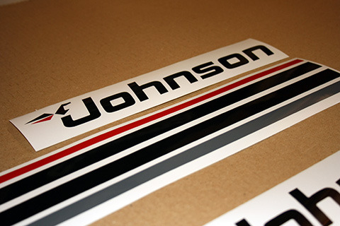 Johnson Outboard 25 Or 20 30 35 Hp 1976 1996 Decals