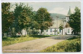 Church Common North Woodstock New Hampshire 1910c postcard - $6.93