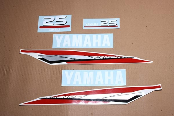 Yamaha outboard 2 two stroke 25 or 30 hp decals stickers for Yamaha boat decals graphics