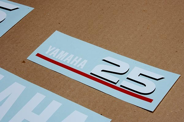 Yamaha outboard 2 two stroke 25 or 30 hp and 50 similar items for Yamaha boat decals graphics