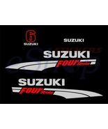 Suzuki outboard df 6 OR 4 Hp Four Stroke full decals stickers set kit - $42.00