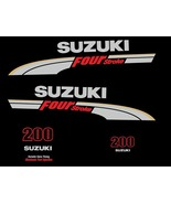 Suzuki outboard df 200 OR 225/250 Hp 4 Four Stroke full decals stickers ... - $88.90
