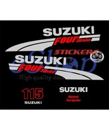 Suzuki outboard df 115 Hp 4 Four Stroke full decals stickers set kit - $59.00