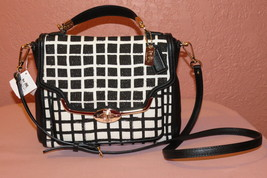 NWT COACH MADISON SMALL SADIE FLAP SATCHEL IN GRAPHIC PRINT FABRIC - $199.95