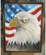 "American Eagle Painting Framed 40""x52"" Signed Frank Walcutt - $250.00"