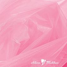 """1 yard X 60"""" PINK SHEER MIRROR ORGANZA STIFF FABRIC for Wedding & Crafts - $3.95"""