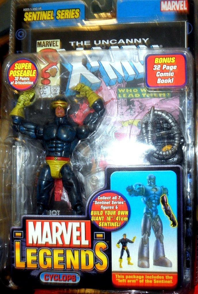 Marvel Legends Sentinel Series Action Figure Cyclops  (2005)