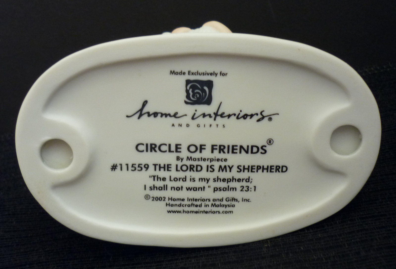 Homco Figurine Lord Is My Shepherd Home Interiors Circle