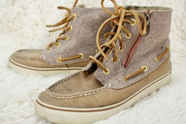 Sperry Top Sider Betty Chukka Boot Sneaker Lace-up Shoes Womens Size 7 M Tan - $58.41