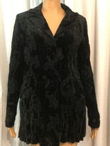 alberto makali Womens Blazer Top Black Size M - $18.00
