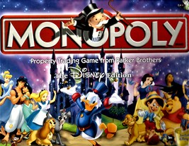 Monopoly -The Disney Edition - Property Trading Game From Parker Brothers -2001 image 1