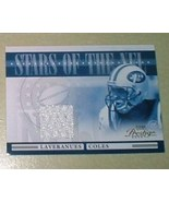 Laveranues Coles Game Used Jersey card NY Jets NFL football - $4.99